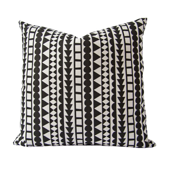 Tribal Cushion (black) by Safari Fusion www.safarifusion.com.au