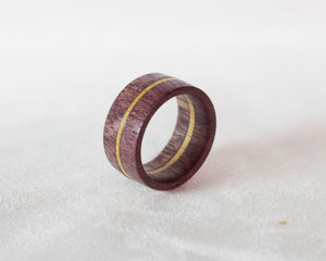 Purpleheart with Yellowheart Stripe