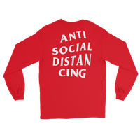 ANTI-SOCIAL DISTAN CING Men's Long Sleeve Shirt