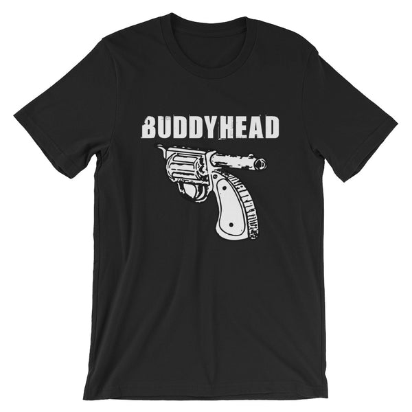 Buddyhead Backwards Gun Logo - Black Tee