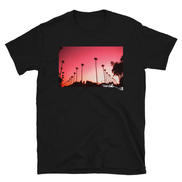 Hollywood Palms II tee by Travis Keller