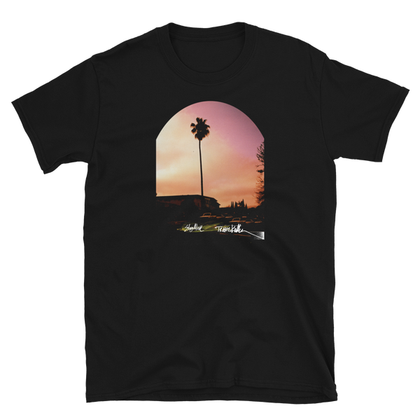 Stay Alive Palm tee by Travis Keller