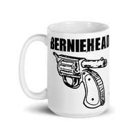 Berniehead coffee mug