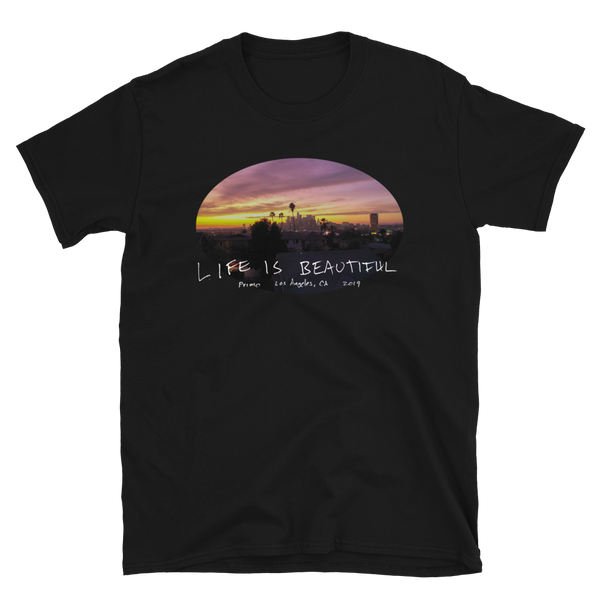 Live Is Beautiful East Los tee by Travis Keller