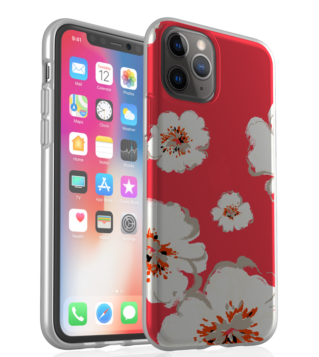 White Flowers - Phone Case