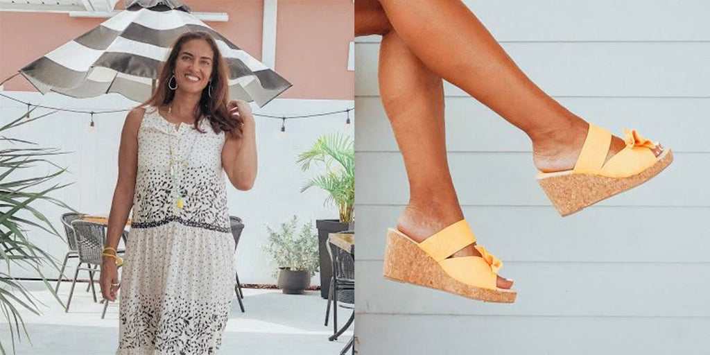 Granola & Grace Blog Shows Stunning Photos of the Ella Wedge Sandal!