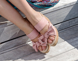 Cork and Jute Wrap Wedges