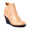 pearlized beige, boots, wedge, fall