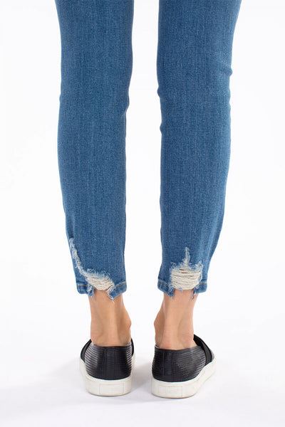 KanCan High Rise Ankle Skinny Distressed Jeans