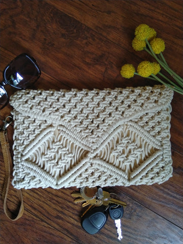 Envelope Macrame Clutch