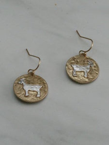 Two-Tone Goat Dangle