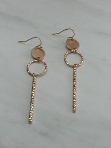 Hammered Bar Dangle