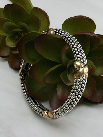 Criss-Cross Textured Bracelet