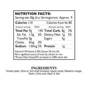 Nutrition Facts Sundried Tomato & Herb Tapenade