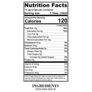 Nutrition Facts Balanced Extra Virgin Olive Oil