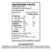 Nutrition Facts Bourbon Mustard BBQ Sauce