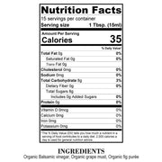 Nutrition Facts Organic Fig Balsamic Reduction