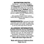 Nutrition Facts Nutty Olive Oil Dark Chocolate Bar