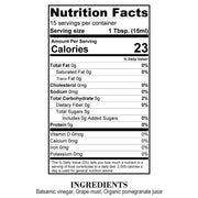 Nutrition Facts Pomegranate White Balsamic Vinegar