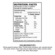 Nutrition Facts Puttanesca Pasta Sauce