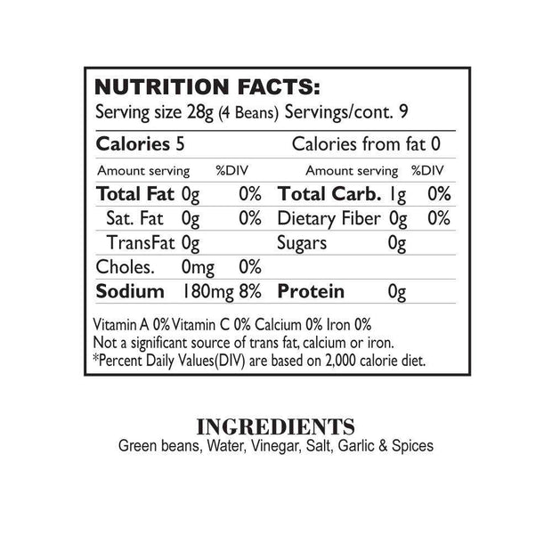 Nutrition Facts Sonoran Spicy Beans