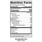 Nutrition Facts White Balsamic Vinegar