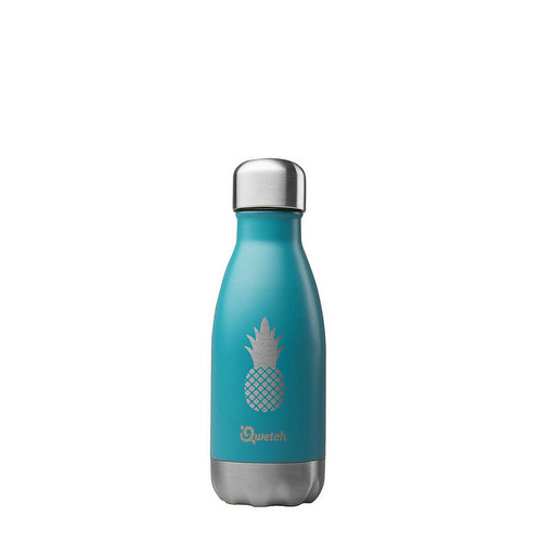 Insulated Stainless Steel Bottle - Pinapple - Turquoise - 260ml - Kids