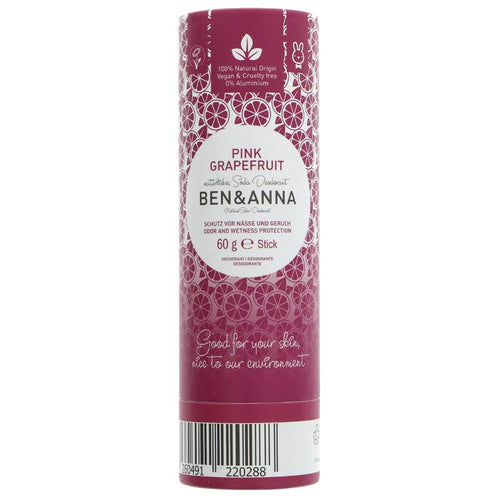 Ben and Anna Deodorant - Pink Grapefruit 60g