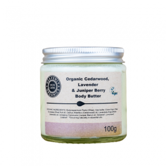 Heavenly Organic Body Cream Cedarwood, Lavender and Juniper-100g