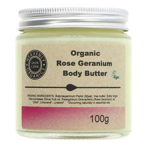 Organic Rose and Geranium Body Butter -100g