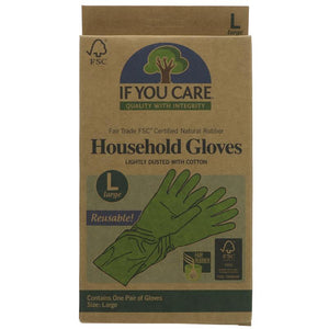 If You Care - Fair Rubber Latex Household Gloves - Large 1 pair