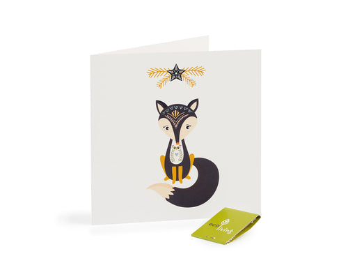 Recycled Christmas Cards -Scandinavian Folk Fox(FSC 100%)