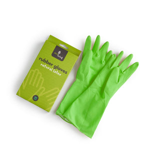 Natural Latex Rubber Gloves Green