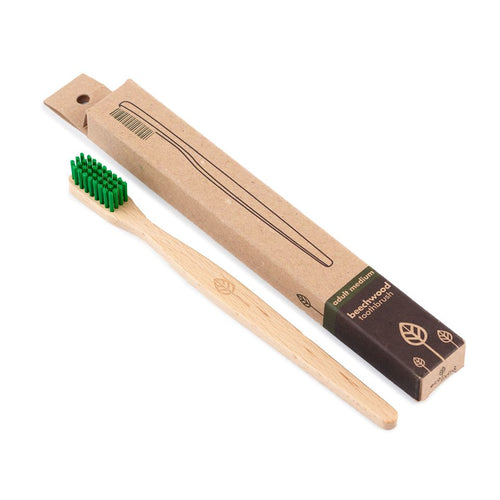 100% Plant-Based Beech Wood Toothbrush - Made in Germany (FSC 100%)
