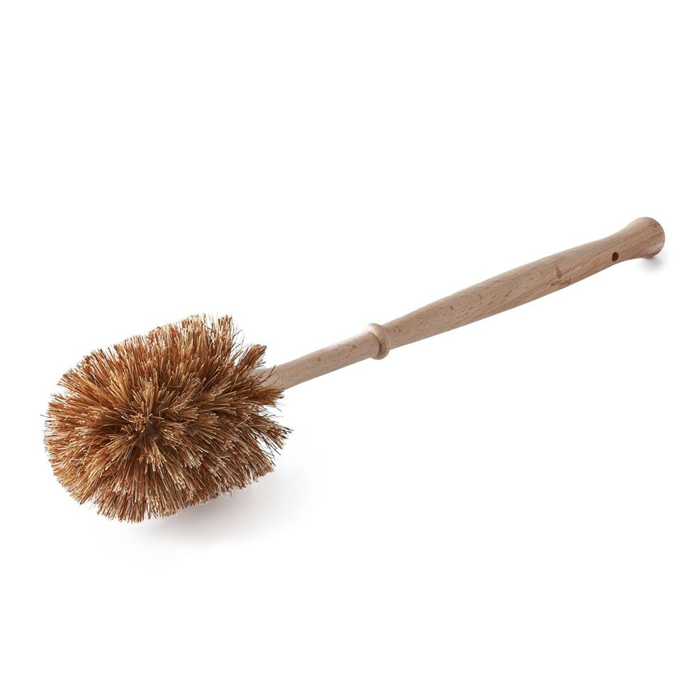 Plastic Free Toilet Brush (Smaller Brush) - Natural Dark Bristles