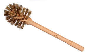 Plastic Free Toilet Brush Brush - Natural Dark Bristles