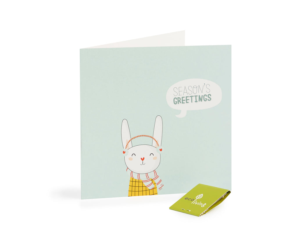 Recycled Christmas Cards - Eco Earth (FSC 100%) Rabbit