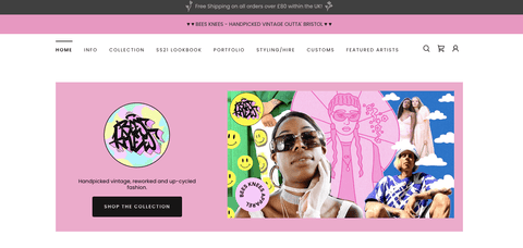 The Bees Knees Apparel Homepage