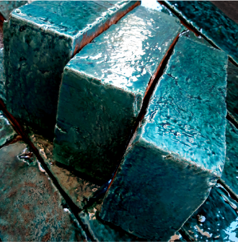 Glazed Teal Brick Tiles