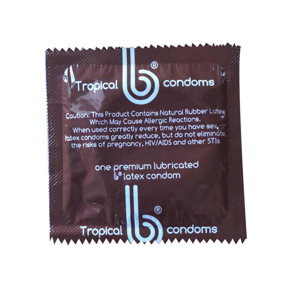 Tropical Flavors b condoms, 1000 case