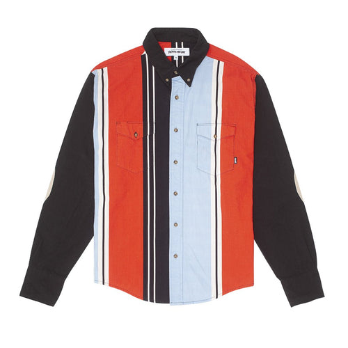 FUCKING AWESOME – PRINTED WESTERN SHIRT (BLACK/RED/BLUE/WHITE)