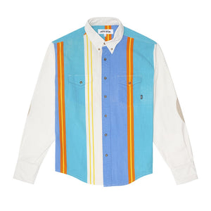 FUCKING AWESOME – PRINTED WESTERN SHIRT (WHITE/BLUE/TEAL/ORANGE/YELLOW)
