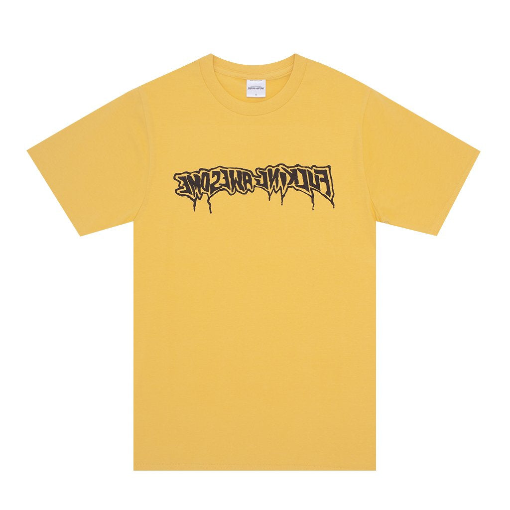 FUCKING AWESOME – DRIP STAMP TEE (GOLD)