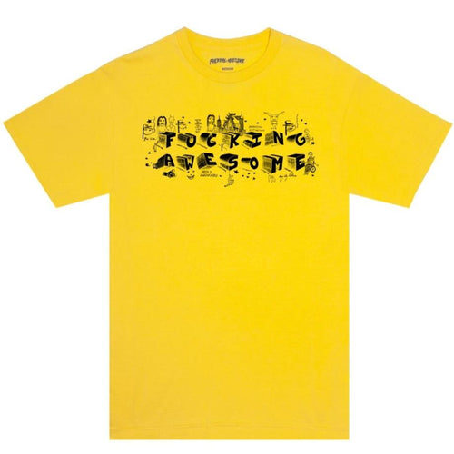 FUCKING AWESOME – BLOCK LETTERS TEE (DAISY)