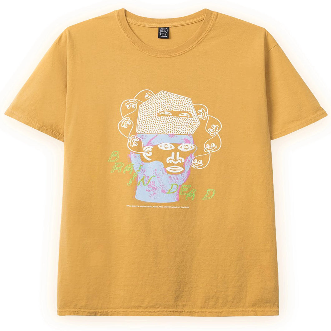 BRAIN DEAD – CURE TEE (YELLOW)