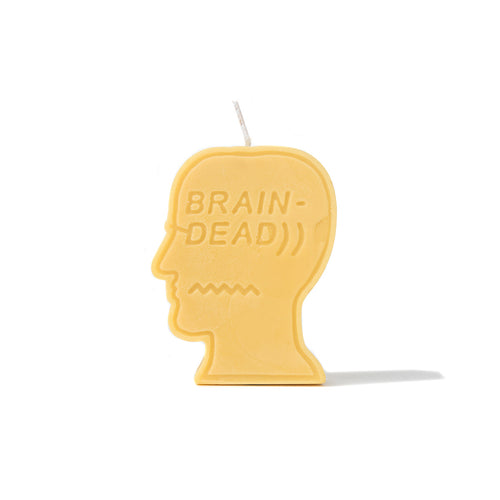 BRAIN DEAD – LOGO CANDLE (YELLOW)