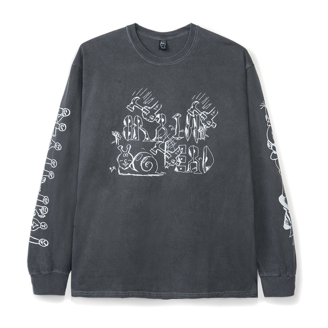 BRAIN DEAD – LEON'S GIRLS L/S TEE (BLACK)