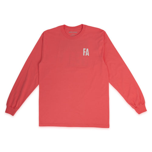 FUCKING AWESOME – FEAR L/S TEE (CORAL SILK)