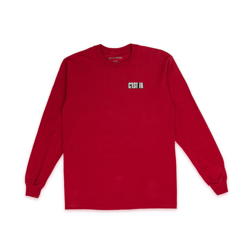 FUCKING AWESOME – C'EST FA L/S TEE (RED)