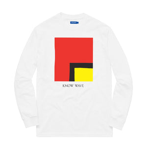 KNOW WAVE – KWAN L'S WORTH L/S TEE (WHITE)